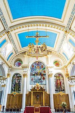 Interior of St. Mary Le Bow church in the City of London, London, England, United Kingdom, Europe
