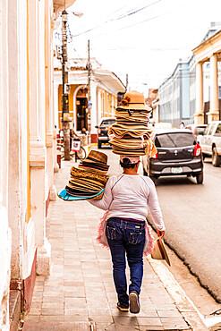 Local street seller in Granada, Nicaragua, Central America