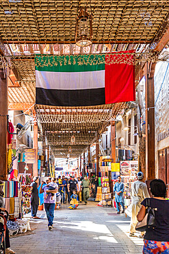 Souk in Deira, Dubai Creek, Dubai, United Arab Emirates, Middle East