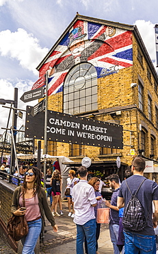 An entrance to Camden Market, London, England, United Kingdom, Europe