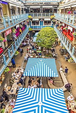 Kingly Court food market in Soho, London, England, United Kingdom, Europe