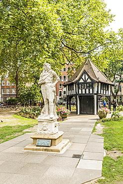 A lodge in Soho Square, London, England, United Kingdom, Europe