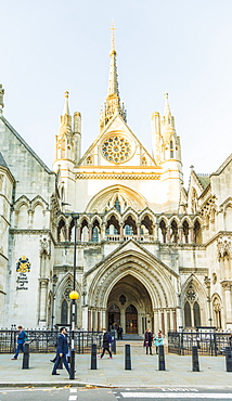 The Royal Courts of Justice in London, England, United Kingdom, Europe