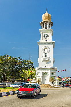 The Queen Victoria Memorial Clock Tower, George Town, Penang Island, Malaysia, Southeast Asia, Asia