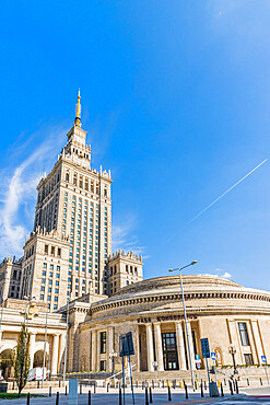 Palace of Culture and Science in Warsaw, Poland, Europe.