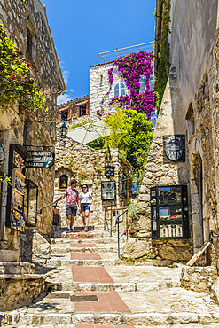 The medieval village of Eze, Alpes Maritimes, Provence Alpes, Cote D'Azur, French Riviera, France, Europe