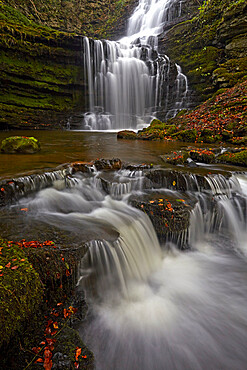 Scalebor Force waterfall in the Yorkshire Dales, North Yorkshire, England, United Kingdom, Europe