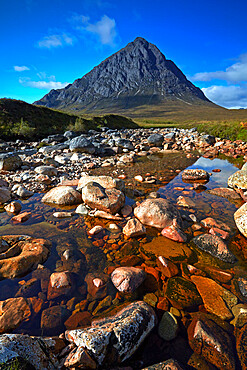 Buchaille Etive Mor viewed from Rannoch Moor, Argyll and Bute, Scotland, United Kingdom, Europe