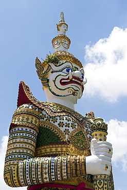 Detail of demon figure, Wat Arun (Temple of Dawn), Bangkok, Thailand, Southeast Asia, Asia