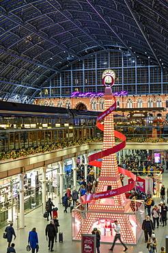 St. Pancras International station at night, London, England, United Kingdom, Europe