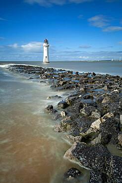 Perch Rock Lighthouse, New Brighton, Cheshire, England, United Kingdom, Europe