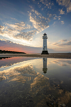 Perch Rock Lighthouse reflected, New Brighton, Cheshire