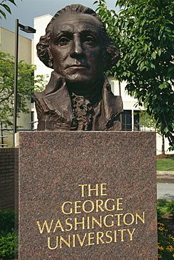 Bust of George Washington, George Washington University, Washington D.C., United States of America, North America