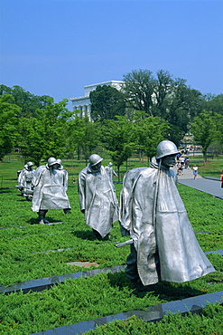 Statues of soldiers at the Korean War Memorial in Washington D.C., United States of America, North America