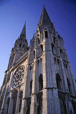 The exterior of the Christian cathedral, Chartres, UNESCO World Heritage Site, Eure et Loir, Centre, France, Europe