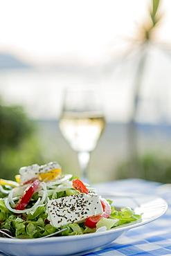 Cypriot Village Salad, Latchi, Cyprus, Mediterranean, Europe