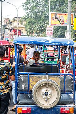 Street scene, Chandni Chowk, Old Delhi, India, Asia
