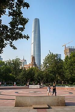 Tianjin Global financial centre skyscraper, Tianjin, China, Asia