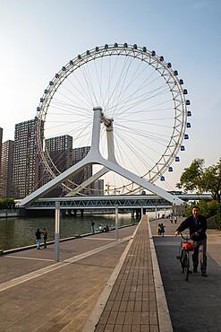 Tianjin eye and river, China