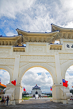 Liberty square gate and Chiang Kai-shek Memorial Hall, Taipei, Taiwan