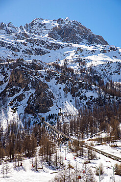 Funival train, Val D'Isere, Savoie, French Alps, France, Europe