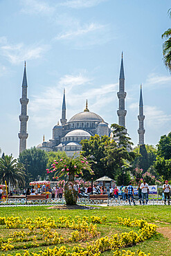 Blue Mosque (Sultan Ahmed Mosque), UNESCO World Heritage Site, Istanbul, Turkey, Europe