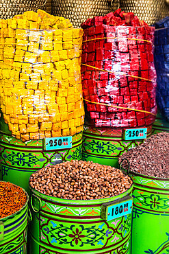 Spices for sale in souk, Medina, Marrakech