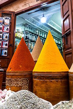Spice shop in a souk, Marrakech