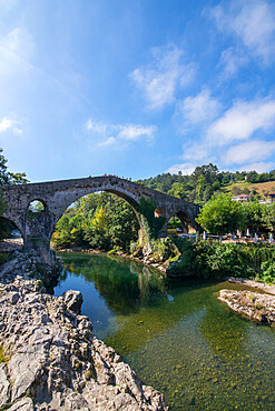 Roman bridge, Cangas de Onis, Spain
