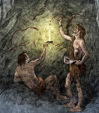 Prehistoric Man, Stone Age Cave Dweller
