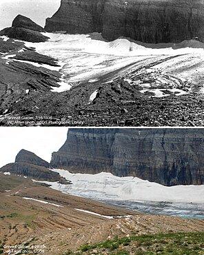 Grinnell Glacier, Glacier NP, 1936/2010