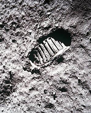Apollo 11 Footprint on the Moon