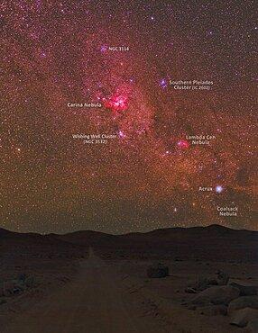 Great Carina Nebula and Star Clusters, Atacama Desert, Chile