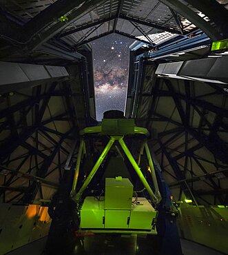 Inside the Vista Telescope