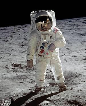 Apollo 11, Astronaut Buzz Aldrin Moonwalk, 1969
