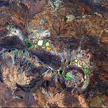 Shoemaker Crater, Landsat Image