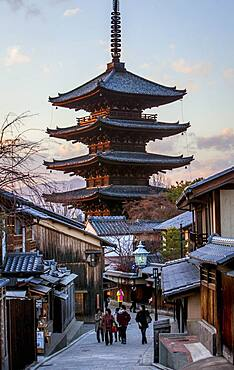 Sanneizaka street and Yasaka Pagoda, Gion district, Kyoto, Japan.