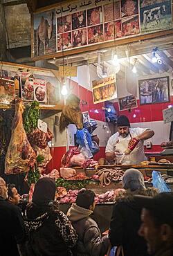 Butcher shop, medina, Fez. Morocco