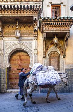 Facade of Zaouia Sidi Ahmed Tijani, medina, Fez.Morocco
