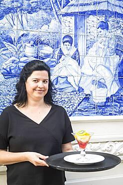 Waitress of Ritz Cafe, Av Arriaga, Funchal, Madeira