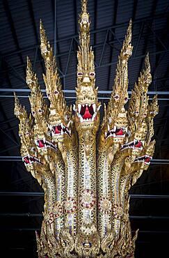 Figurehead of barge, Royal Barges National Museum, Thonburi, Bangkok, Thailand