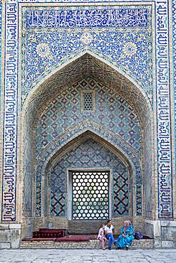 Courtyard of Tilla-Kari Madrasa, Registan, Samarkand, Uzbekistan