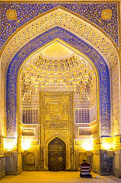 Mosque of Tilla-Kari Madrasa, Registan, Samarkand, Uzbekistan