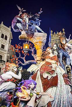 Falla Maestro Gozalbo-Conde Altea, Fallas festival,Valencia,Spain