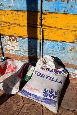Tortilla bags in Santa Rosalia, Baja California Sur, Mexico