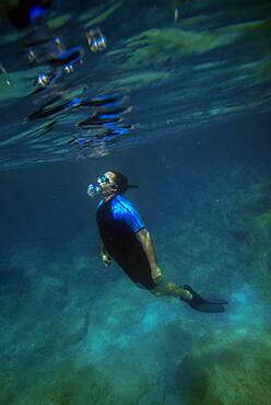 Snorkeling in Isla Santa Catalina, Gulf of California, Mexico