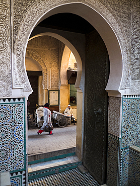 People in the Medina of Fes
