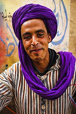 Portrait in the bazaar of Rissani