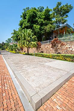 Mass graves outside of the Kigali Genocide Memorial, Kigali, Rwanda.
