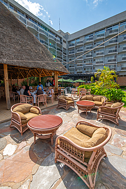 The patio of the Hotel des Mille Collines (Hotel Rwanda), Kigali, Rwanda.